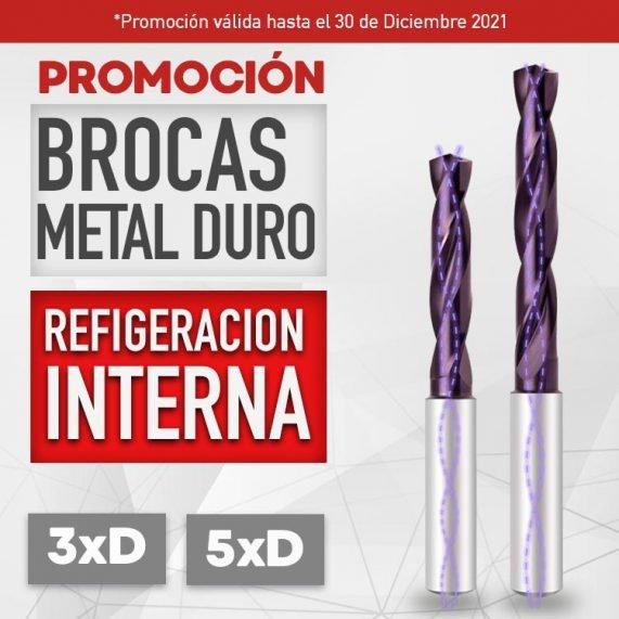 Promoción Brocas Metal Duro Refrigeradas
